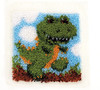 "WonderArt Dinosaur 12"" x 12"" Latch Hook Kit"