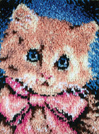"WonderArt Prize Kitty 15"" x 20"" Latch Hook Kit"