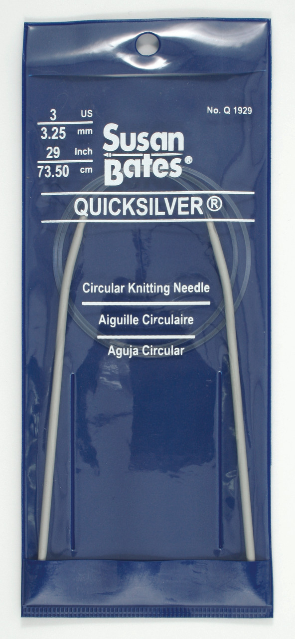 Susan Bates 16-Inch Quicksilver Circular Knitting Needle 3.25mm