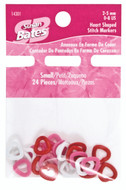 Susan Bates 24-Pack Small Heart Shaped Stitch Markers (Sizes US 0-8 - 2-5 mm)
