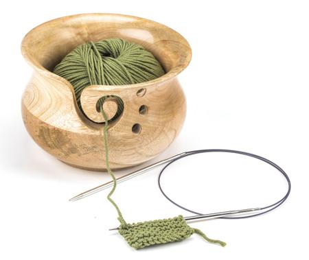 Susan Bates Wood Yarn Bowl