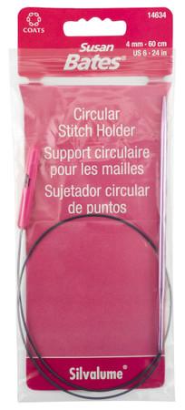 "Susan Bates Silvalume 24"" Circular Stitch Holder (Size US 6 - 4 mm)"