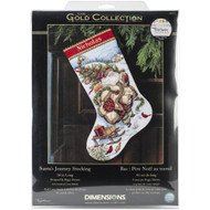 Dimensions Santa's Journey Stocking Cross Stitch Kit