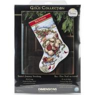 Dimensions Santa's Journey Stocking Cross Stitch Kit