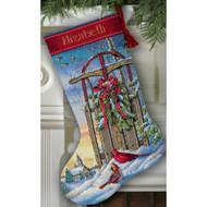 Dimensions Christmas Sled Stocking Cross Stitch Kit