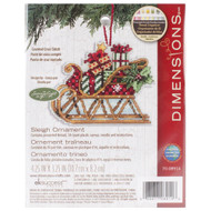 Dimensions Sleigh Ornament Cross Stitch Kit