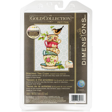Dimensions Tea Cups Cross Stitch Kit