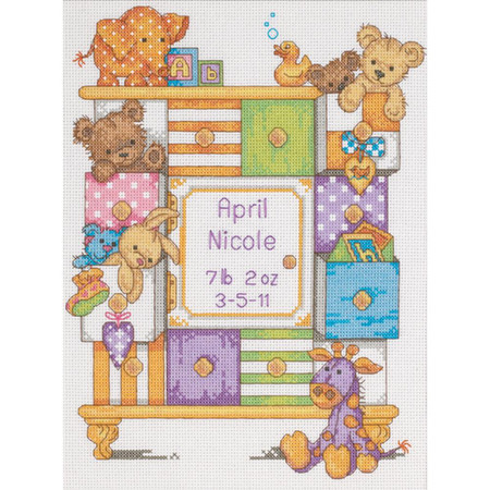 Dimensions Baby Drawers Birth Record Cross Stitch Kit