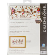 Dimensions Ever After Wedding Record Cross Stitch Kit