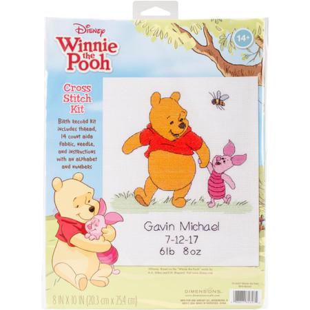 Dimensions Winnie The Pooh Birth Record Cross Stitch Kit