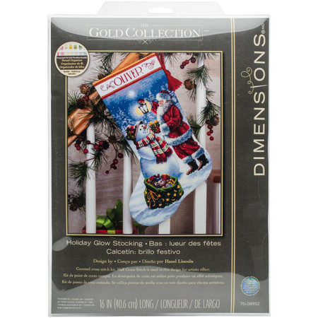 Dimensions Holiday Glow Stocking Cross Stitch Kit