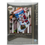 Dimensions Holiday Glow Stocking Cross Stitch Kit