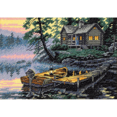 Dimensions Morning Lake Cross Stitch Kit