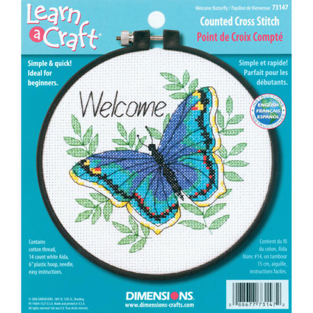 Dimensions Welcome Butterfly Cross Stitch Kit