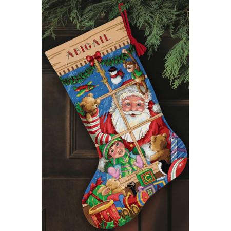 Dimensions Santa's Toys Stocking Cross Stitch Kit