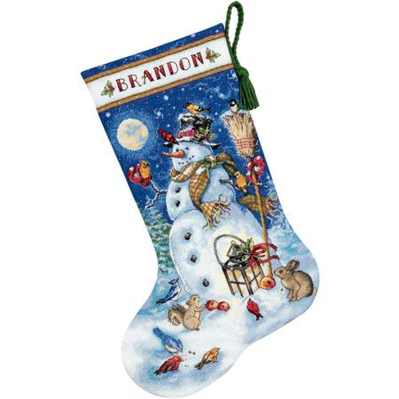 Dimensions Snowman & Friends Stocking Cross Stitch Kit