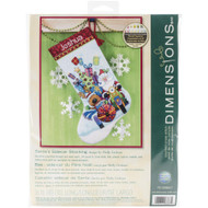 Dimensions Santa's Sidecar Stocking Cross Stitch Kit