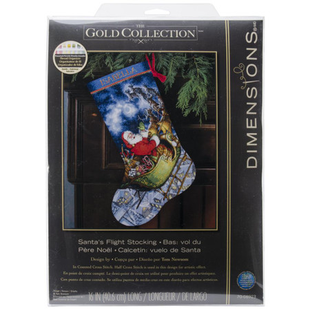 Dimensions Santa's Flight Stocking Cross Stitch Kit