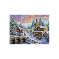 Dimensions Holiday Village Cross Stitch Kit