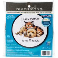 Dimensions Better With Friends Cross Stitch Kit