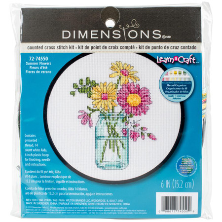 Dimensions Summer Flowers Cross Stitch Kit