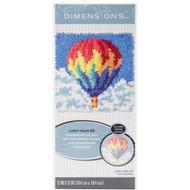 "Dimensions Hot Air Balloon 12"" x 12"" Latch Hook Kit"