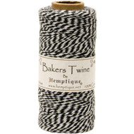 Hemptique Cotton Baker's Twine Spool 2-Ply (410 ft.) - Black