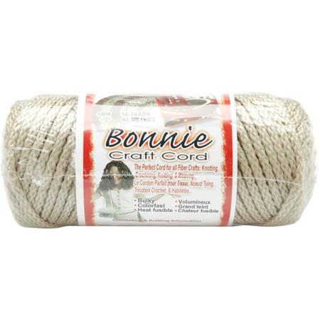 Pepperell Pearl Beige Bonnie Macrame Craft Cord (4 mm x 50 yards)