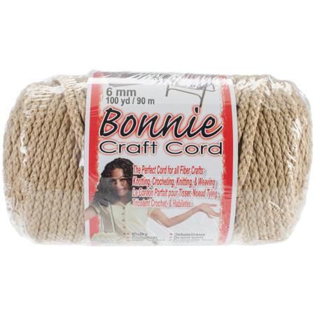 Pepperell Pearl Beige Bonnie Macrame Craft Cord (6 mm x 100 yards)