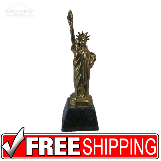 Solid Brass Amp Marble Paperweight Statue Of Liberty