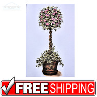5x10 Flower Tree Art Print, Garden, Tree's, Home