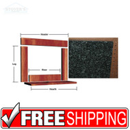 Solid Granite Emerald Mantle Facing Kit 36-43""