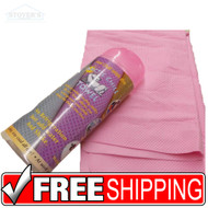 Instant Arctic CHILL Cooling Towel Uses Only Water Sports Exercise Medical Pink