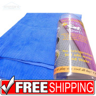 Instant Arctic CHILL Cooling Towel Uses Only Water Sports Exercise Medical Blue