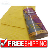 Instant Arctic CHILL Cooling Towel Uses Water Sports Exercise Medical Yellow