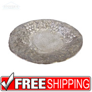 VTG MID CENTURY HOLLYWOOD REGENCY Large Brass Silver Centerpiece Platter Bowl