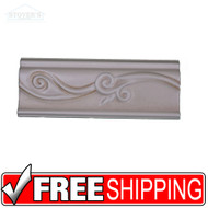 3x8 Ceramic Wall Border Tile | 4 pcs | Listello USA | Salmon