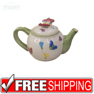 NEW IN BOX Spring Butterfly Tea Pot