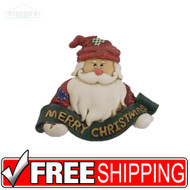 Country Santa Claus Ornament