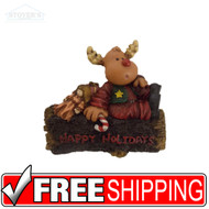 """Happy Holidays"" Rudolph Ornament"