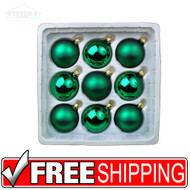 Designer's Studio Green Glass Ball Ornaments