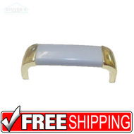 Amerock Gray w/ Bright Brass Drawer Door Handle Pulls Wholesale Lot of 25