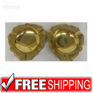 Set of Vintage Hollywood Regency Solid Brass Cigarrette Ashtrays NEW 150900815563
