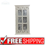 "4 +6 photo picture frame collage white wood memories decorative ideas 27""x14 1/2"