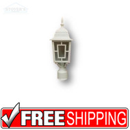 Outdoor Light Post Lantern - 430038 - White