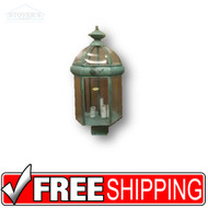 Post Lantern - 432937 - Brass Verde Green