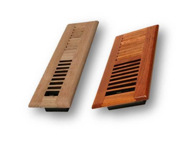 Wood Louver Floor Register Vent 4 Quot X 14 Quot Stover S