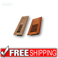 "WOOD LOUVER FLOOR REGISTER VENT - 6"" X 10"""