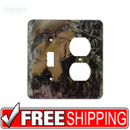 Light & Socket Plate | Mossy Oak Break Up | Outdoors-Themed | NEW