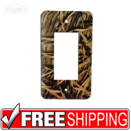 Light & Socket Plate | Mossy Oak Shadow Grass | Outdoors-Themed | NEW
